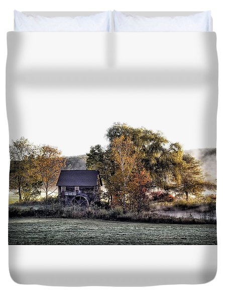 Mill In The Meadow Duvet Cover