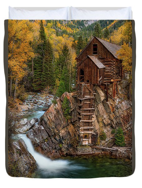 Mill In The Mountains Duvet Cover