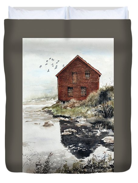 Mill Pond Duvet Cover by Monte Toon
