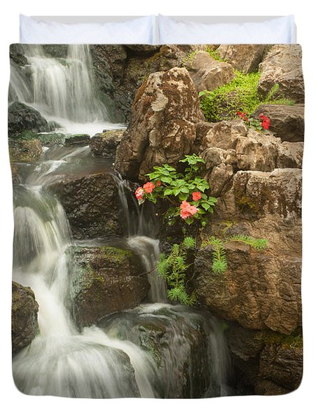 Mill Wheel With Waterfall Duvet Cover