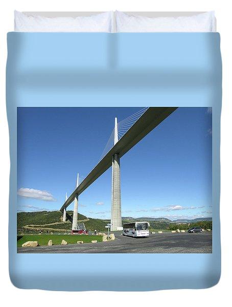 Millau Viaduct Duvet Cover
