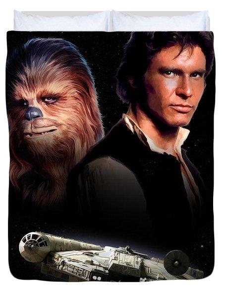 Han Solo - Millenium Falcon Duvet Cover