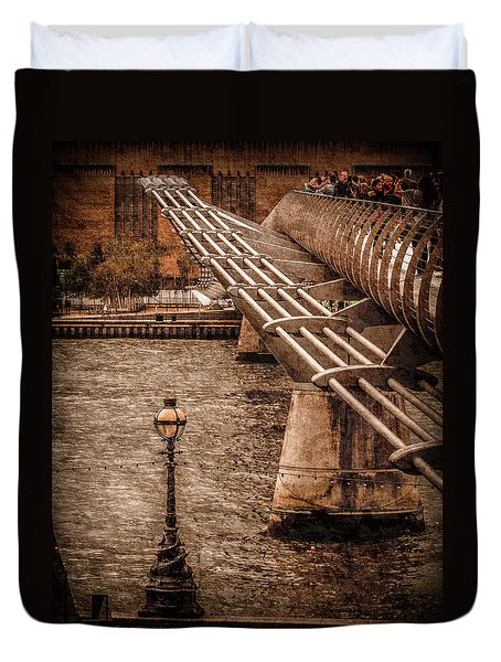 London, England - Millennium Bridge Duvet Cover