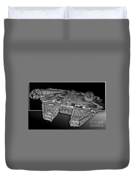 Millennium Falcon Attack Duvet Cover
