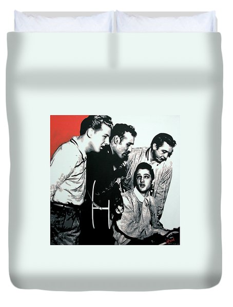 Million Dollar Quartet Duvet Cover