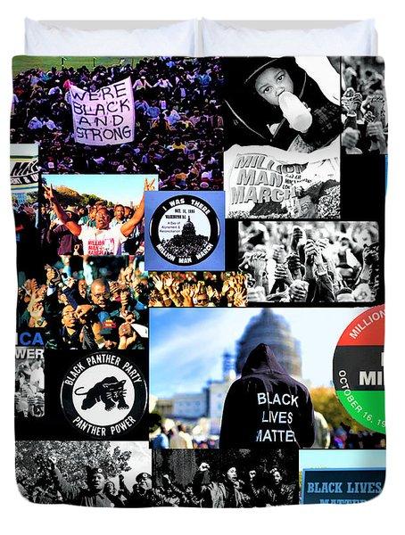 Million Man March Montage Duvet Cover