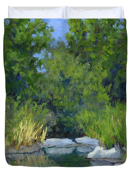 Millrace Pond Duvet Cover