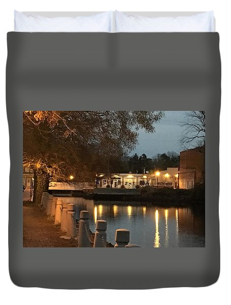 Milton By Night Duvet Cover