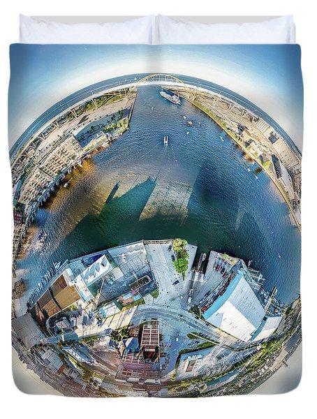 Duvet Cover featuring the photograph Milwaukee And Kk Rivers by Randy Scherkenbach