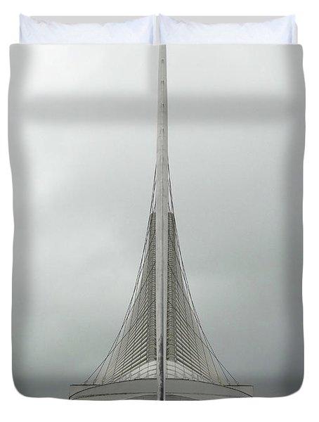Milwaukee Art Museum Symmetry Duvet Cover