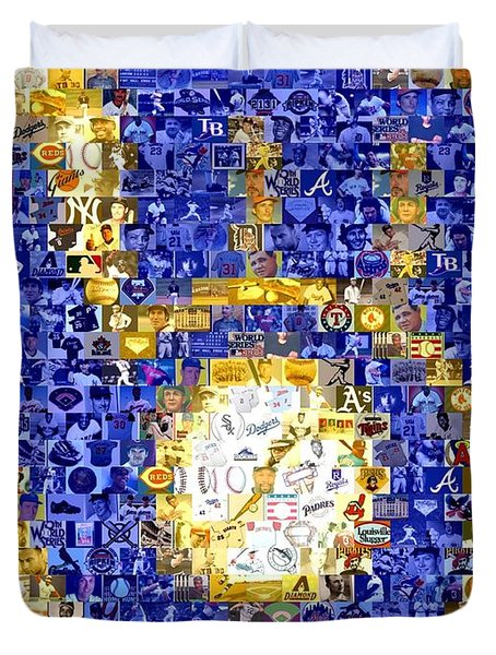 Milwaukee Brewers Mosaic Duvet Cover by Paul Van Scott