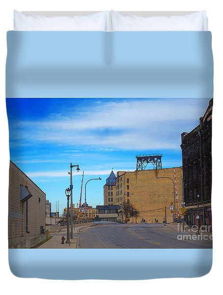 Milwaukee Cold Storage Co Duvet Cover by David Blank