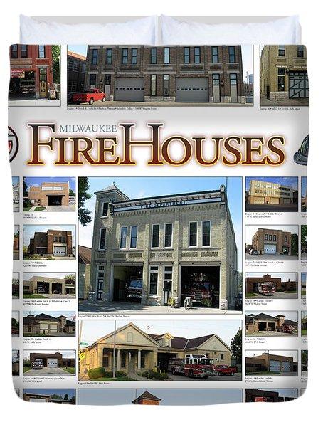 Milwaukee Fire Houses Duvet Cover