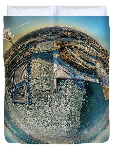Milwaukee Pierhead Light Little Planet Duvet Cover
