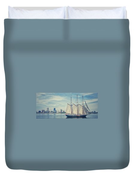 Milwaukee Schooner Duvet Cover