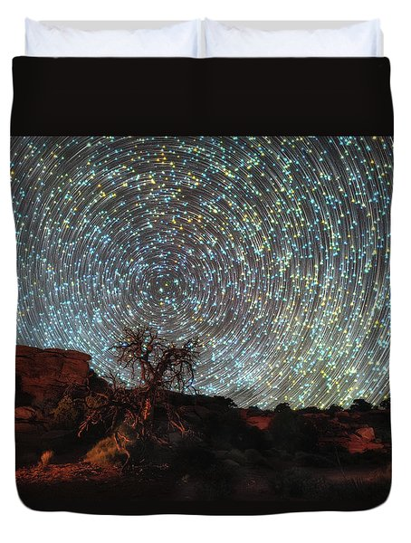 Duvet Cover featuring the photograph Mind Bending by Russell Pugh