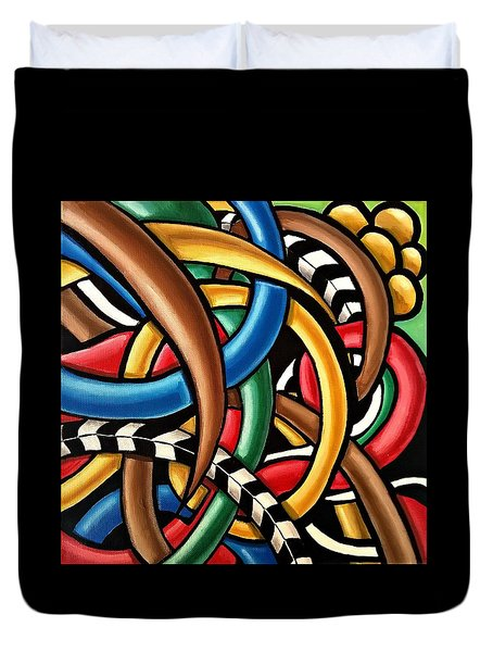 Mind Games - Abstract Energy Painting Duvet Cover