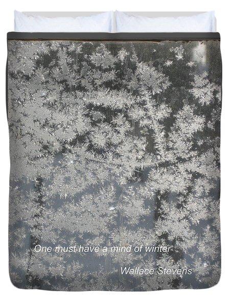 Mind Of Winter Duvet Cover by Deborah Dendler