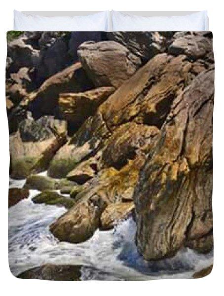 Brazilian Sea Cliffs - Guaruja - Sao Paulo Duvet Cover