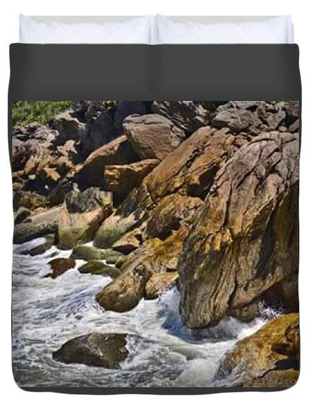Brazilian Sea Cliffs - Guaruja - Sao Paulo Duvet Cover