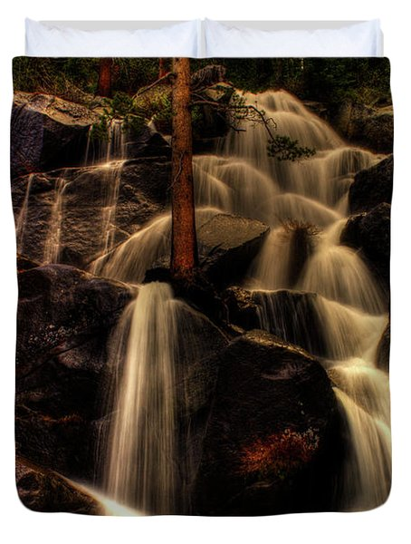 Quaking Aspen Falls Along Tioga Pass  Duvet Cover