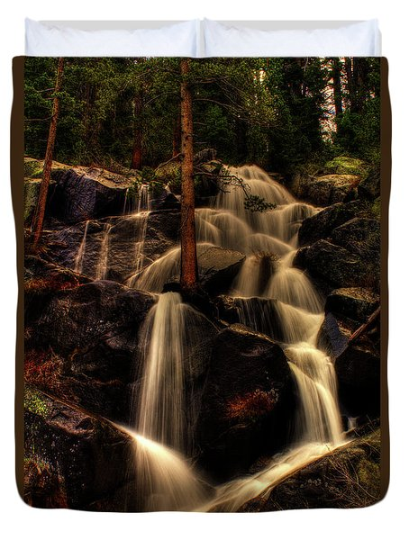 Quaking Aspen Falls Along Tioga Pass  Duvet Cover