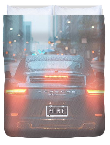 Duvet Cover featuring the photograph Mine In The Rain by Ericamaxine Price