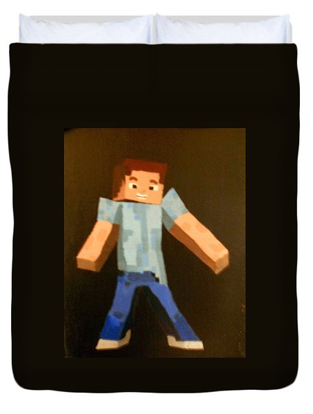 Minecraft Steve Duvet Cover by Sheri Keith via Jayd