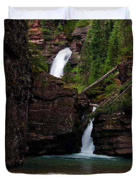 Duvet Cover featuring the photograph Mineral Creek Falls by Steve Stuller