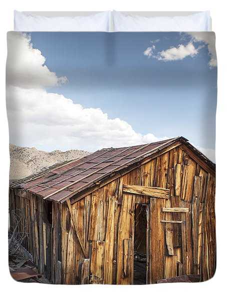 Miner's Shack In Benton Hot Springs Duvet Cover