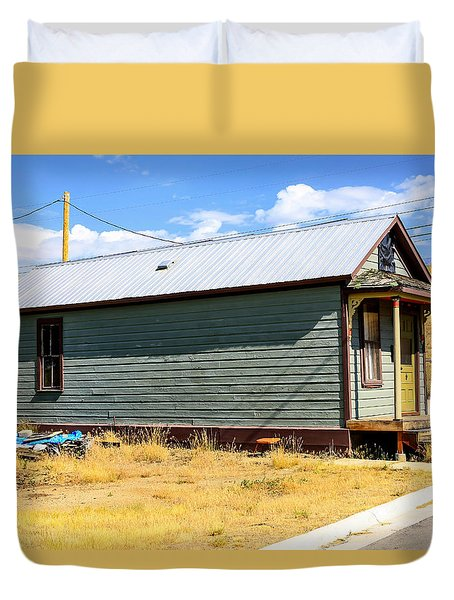 Miners Shack In Montana Duvet Cover