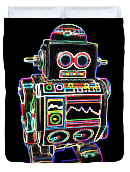 Mini D Robot Duvet Cover by DB Artist