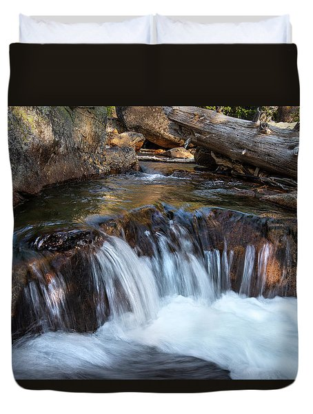 Mini-fall At Eagle Falls Duvet Cover