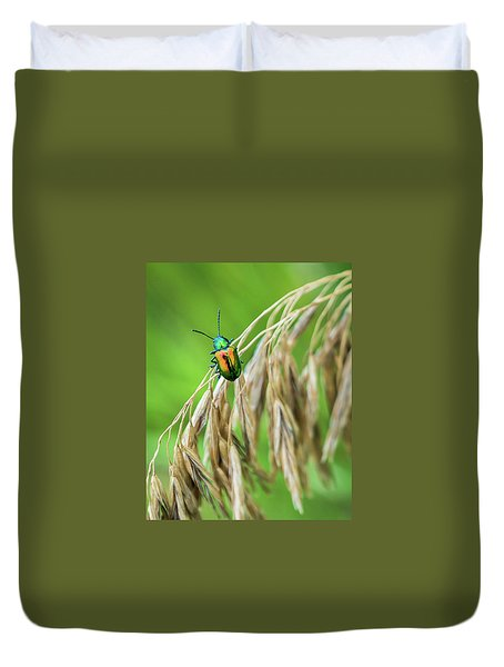 Duvet Cover featuring the photograph Mini Metallic Magnificence  by Bill Pevlor
