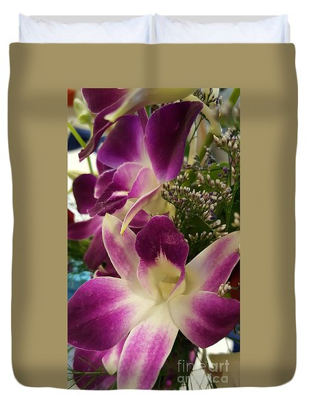 Mini Orchids  Duvet Cover
