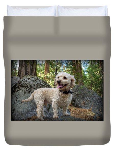 Mini Poodle Duvet Cover