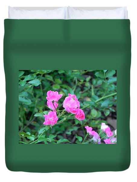 Mini Roses Duvet Cover by John Parry