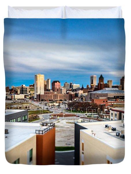 Miniature Milwaukee Duvet Cover