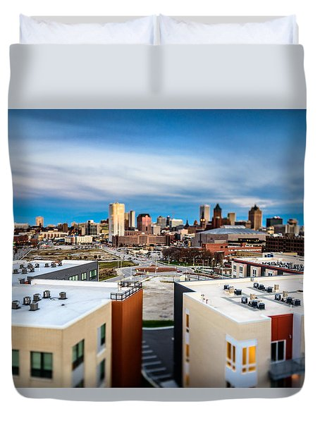 Miniature Milwaukee Duvet Cover