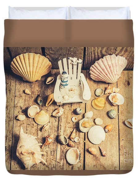 Miniature Sea Escape Duvet Cover