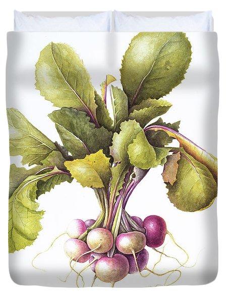 Miniature Turnips Duvet Cover