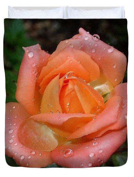Miniature Wet Rose Duvet Cover