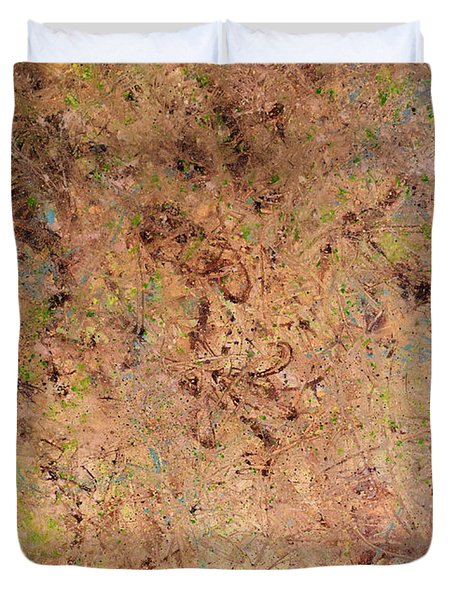 Duvet Cover featuring the painting Minimal 7 by James W Johnson
