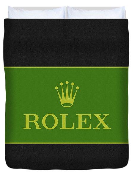 Minimal Rolex Logo Duvet Cover