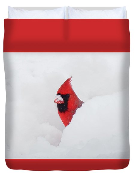 Minimalist Cardinal - Bird Duvet Cover