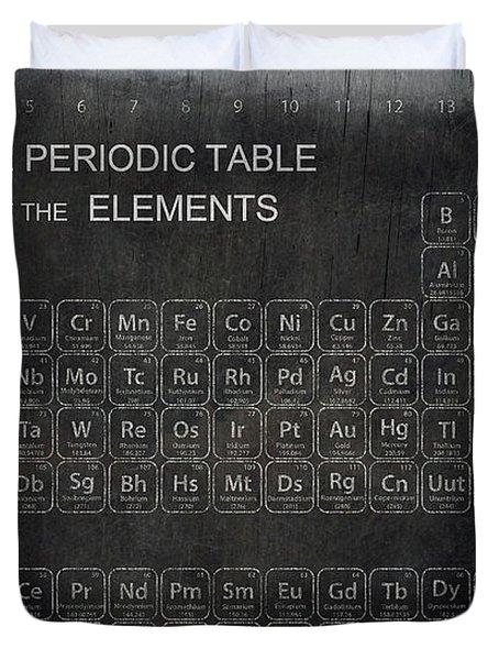 Minimalist Periodic Table Duvet Cover