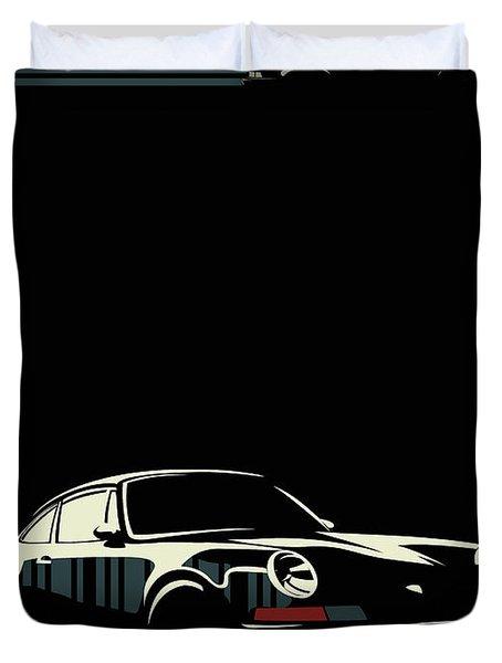 Minimalist Porsche Duvet Cover