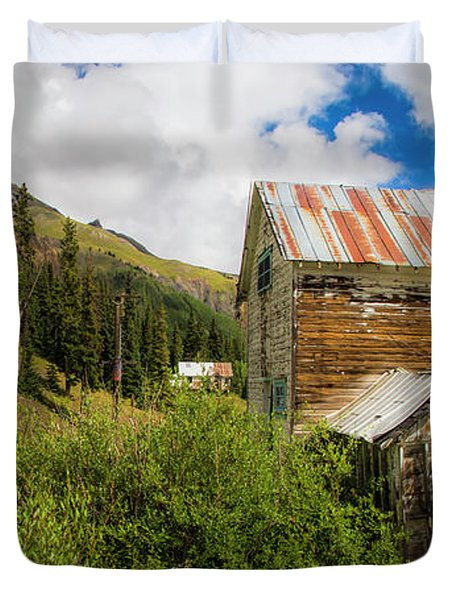 Mining Buildings In Silverton Duvet Cover