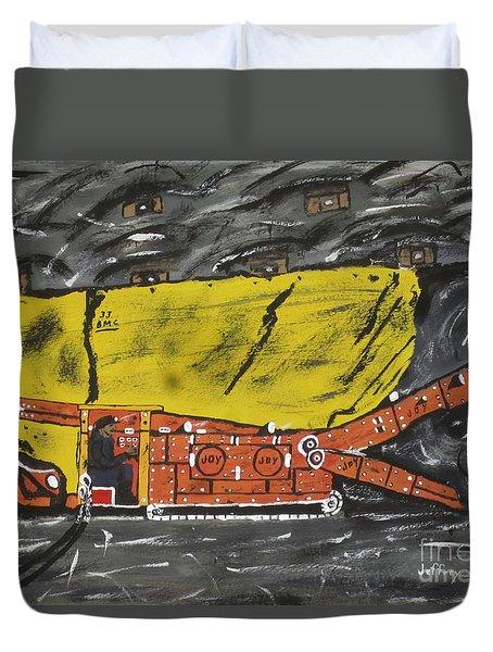 Coal Mining  Duvet Cover