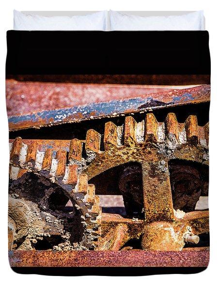 Mining Gears Duvet Cover by Onyonet  Photo Studios